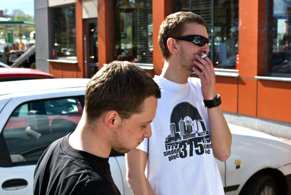 """Przed sesją nagrywkową na projekt """"Ludzie Szy"""" (16.04.2011)"""